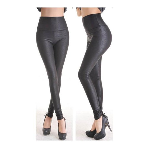 Leggings in Schwarz im Lederlook One Size (S-L) schwarz 90 % Nylon / 10 % Elastan 00006002 25,99 €